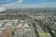 Coming in to land at LA, the dreaded 405 looks clear