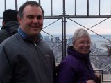 Our friend Glen and Rayls atop the Empire State Building