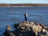 Gary at the confluence of the Mississippi and Missouri Rivers