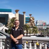 Gary outside the MGM Grand in Las Vegas