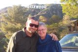 Gary and Rayls in Hollywood