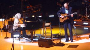 Carole King and James Taylor, a great show and not a bad photo if I do say so myself