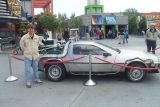 Ryan and the Back To The Future car - Universal Studios