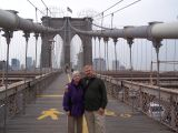 Rayls and Gaz about to walk across the Brooklyn Bridge