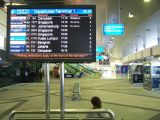 International departures, it's not a busy airport
