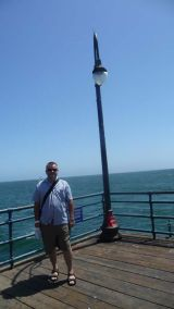 That's me at the end of the Santa Monica pier, Australia out there somewhere