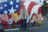 Ryan was always a Peanuts fan - here is with his mates