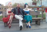 Gaz with some lady friends at Knottsberry