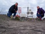 Gary and Rayls at the crash site