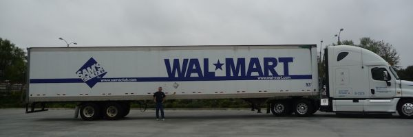 Me and a Wal-Mart truck