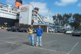 Gary and Ryan, the Queen Mary at Long Beach