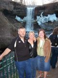Gary, Rayls and Nichole and Minnehaha Falls
