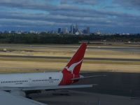 Perth city taken from the International Airport